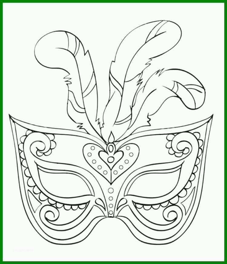 wunderbar fasching maske ausmalbilder feder children print