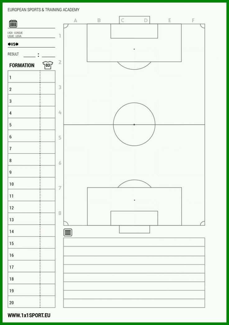 8 Fabelhaft Fussball Aufstellung Vorlage 2019 Update