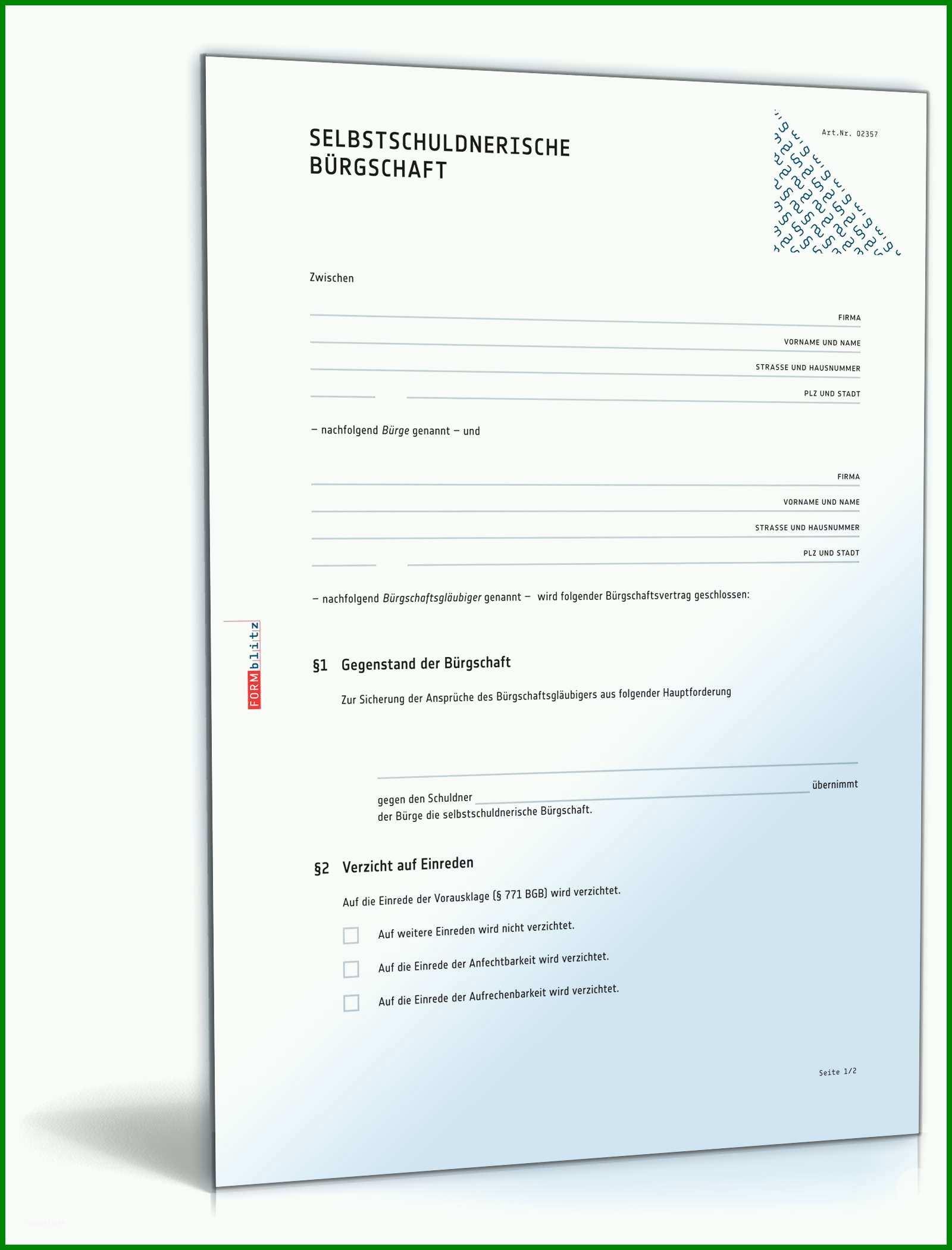Allerbeste Mietbuergschaft Eltern Vorlage Kostenlos 157327
