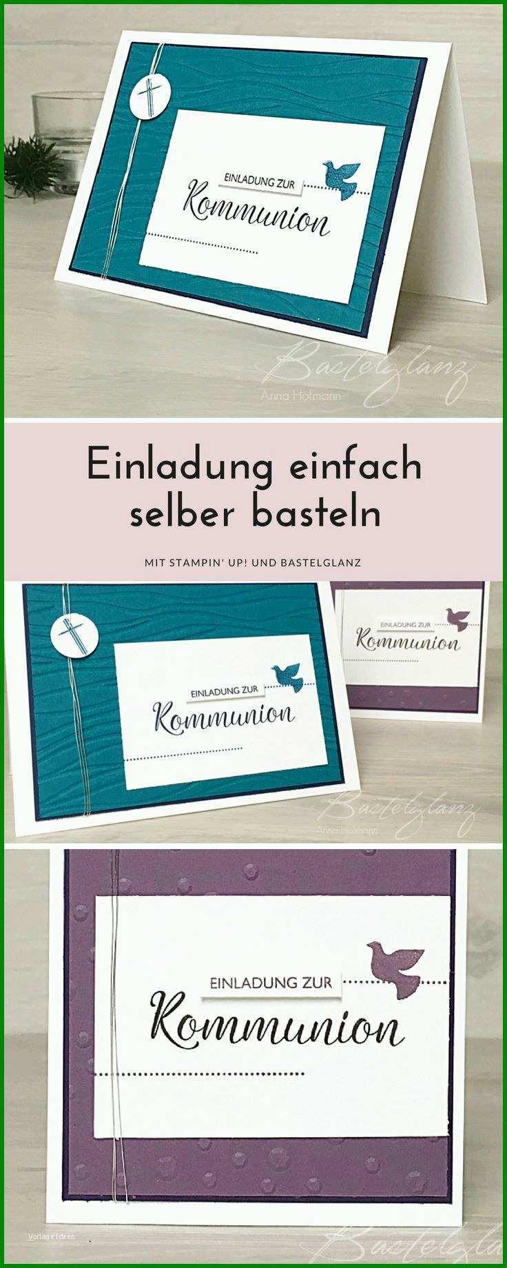 Kommunion Karten Basteln Kommunion Einladung Basteln