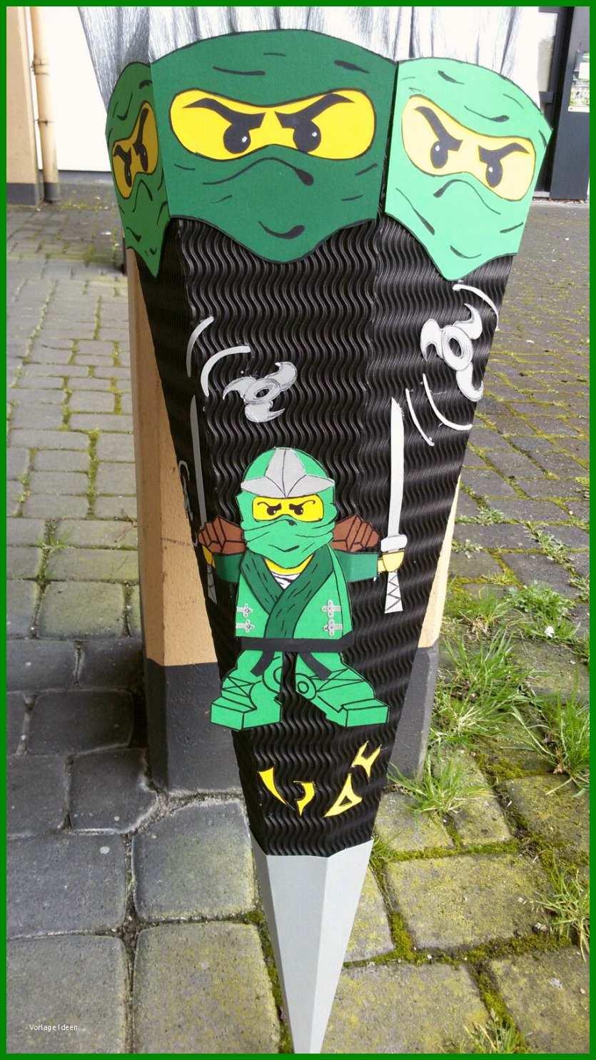 schultüte ninjago basteln vorlage