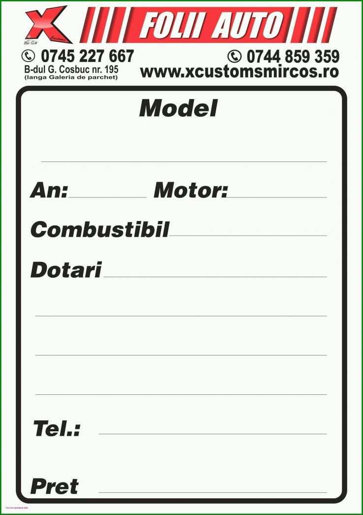 Bemerkenswert Auto Zu Verkaufen Schild Vorlage Kostenlos ...