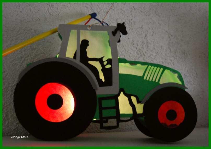 traktor laterne basteln vorlage