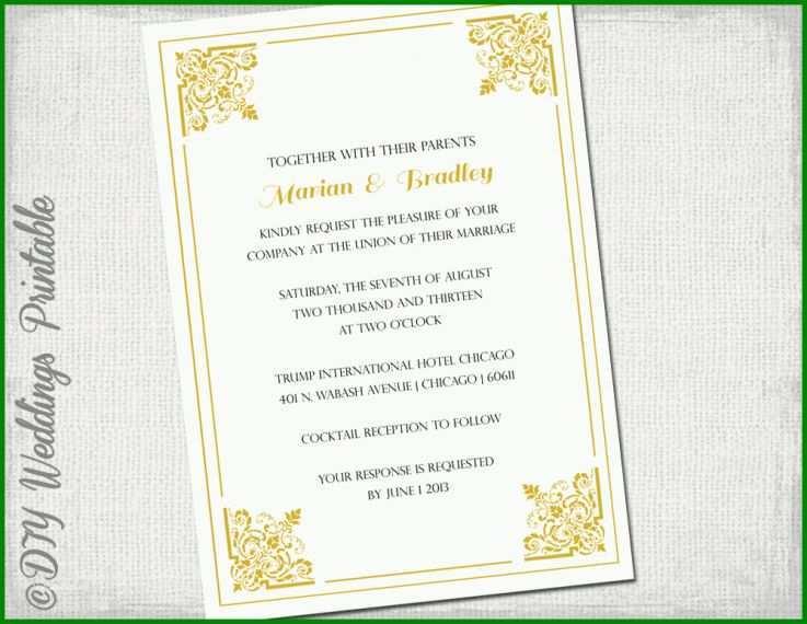 9 Toll Einladung Goldene Hochzeit Vorlage Word Sie