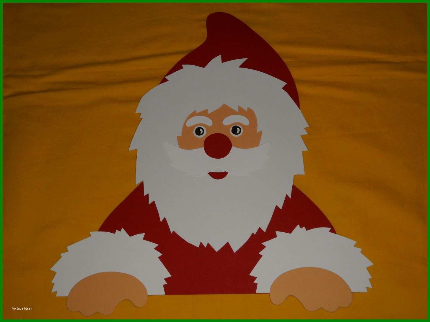 weihnachtsmann basteln vorlagen papier
